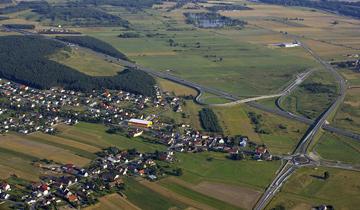Zdjęcie lotnicze dzielnicy Karłubiec